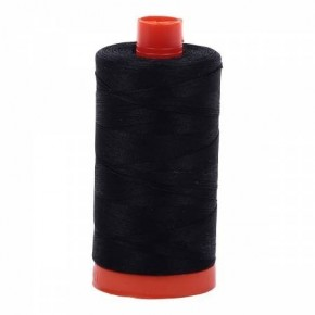 Aurifil Thread 50wt Cotton 1422 yard, Black