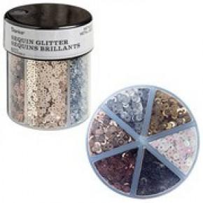 Darice® 6-Color Sequin Glitter Caddy: Metallics