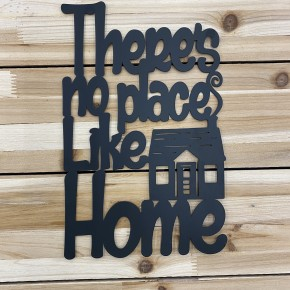 There's No Place Like Home, Metal Wall art, Home Decor