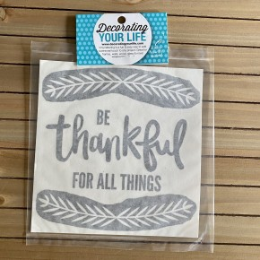 Be Thank For All Things, Vinyl Black