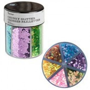 Darice® 6-Color Chunky Glitter Caddy: Pastels