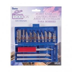 Hobby Knife Set, 16 Piece