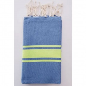Traditional Fouta Blue & Lime