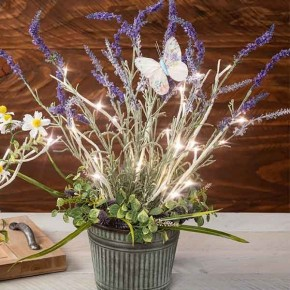 Lavender Porch Pot with Lighted Branch Make and Take Bundle