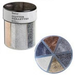 Darice® 6-Color Glitter Caddy: Metallics