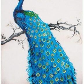 Diamond Dots, Blue Peacock