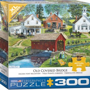 Old Covered Bridge by Bob Fair 300-Piece Puzzle