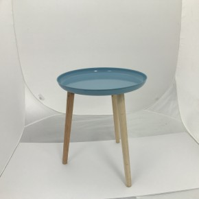 """Colorful Metal Tray With Dowel Legs, Blue, 18"""" Tall"""