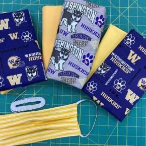 UW Grouping Cotton Mask Kit - Makes 12 Masks