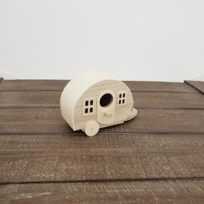 Unfinished Wood Birdhouse Camper