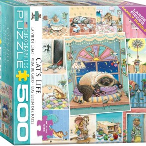 Cat's Life by Gary Patterson 500-Piece Puzzle