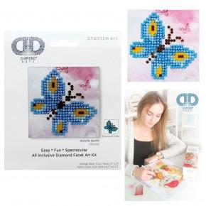 Diamond Dotz Facet Art Kit Starter Butterfly Sparkle