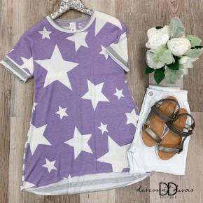Short Sleeve Tunic With Star print
