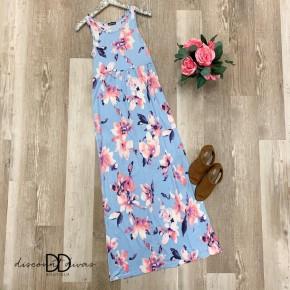 Sleeveless Floral Maxi Dress
