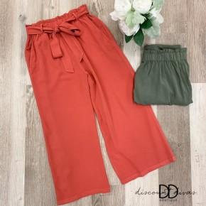 Flowy Pants With Tie Belt Detail
