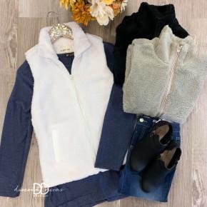 Fleece Zipper Vest *Final Sale*