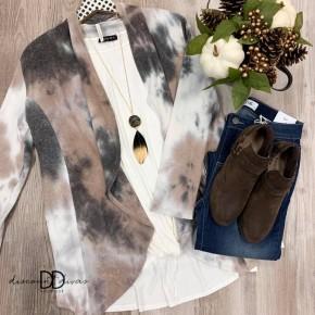Long Sleeve Tie Dye Cardigan *Final Sale*