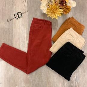 Corduroy Crop Skinny Jeans
