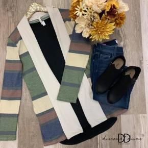 Long Sleeve Striped Cardigan *Final Sale*