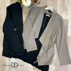 Drawstring Waist Jacket *Final Sale*