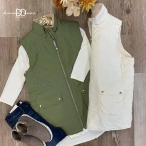 Sleeeveless Full Zip Vest *Final Sale*