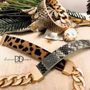 Animal Print Magnetic Bracelet