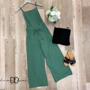 Drawstring Waisted Jumpsuit