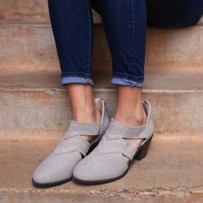 Ankle Bootie With Zipper Detail *Final Sale*