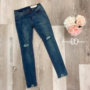 Raw Hem Skinny Jeans *Final Sale*