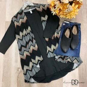 Sleeveless Multi Colored Cardigan *Final Sale*