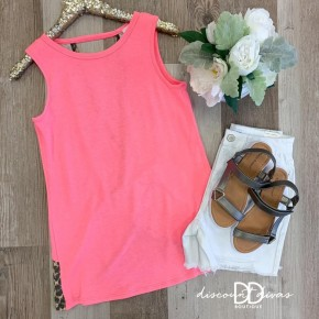 Sleeveless Two Tone Top With Open Back