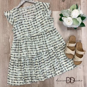 Tie Dye Printed Babydoll Dress
