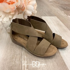 Strappy Sandal With Back Zip Detail