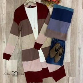 Striped Cardigan *Final Sale*
