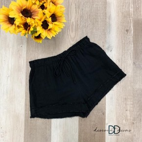 Frayed Hem Shorts With Pocket Detail