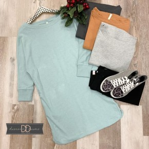 3/4 Sleeve Tunic With Pockets *Final Sale*