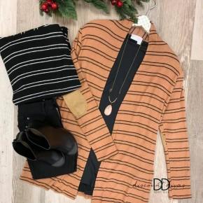 Stripe Cardigan With Pockets *Final Sale*