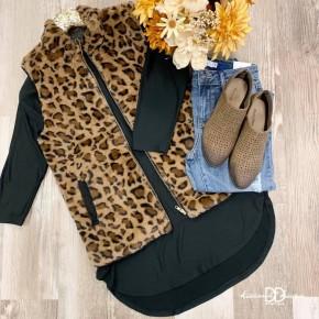 Sleeveless Animal Print Vest *Final Sale*