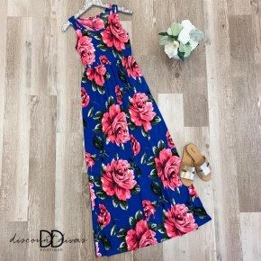 Sleeveless Babydoll Maxi Dress