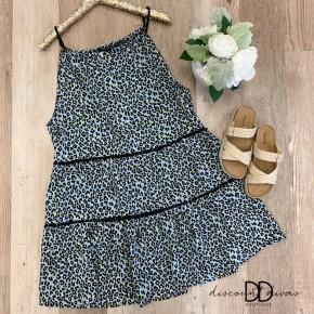 Leopard Print Babydoll Dress