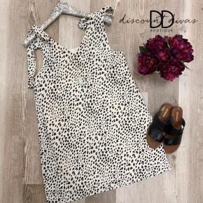 Animal Print Dress With Tie Strap Detail