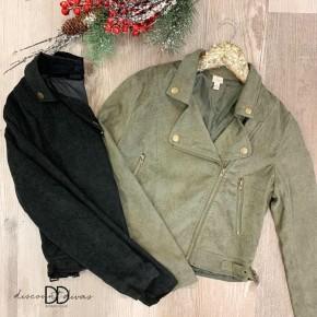 Long Sleeve Crop Jacket with Zipper Detail *Final Sale*