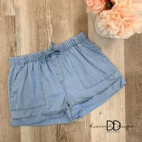 Waistband Shorts with Adjustable drawstring
