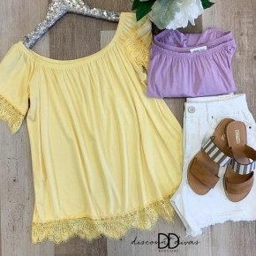 Off the Shoulder Lace Bottom Top