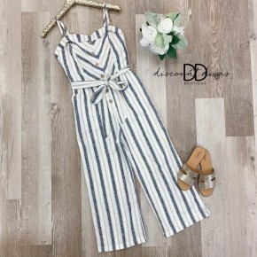 Spaghetti Strap Jumpsuit With Tie Detail