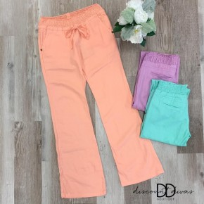 Linen Pants With Pocket Detail