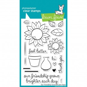 Lawn Fawn Clear Stamps - Our Friendship Grows