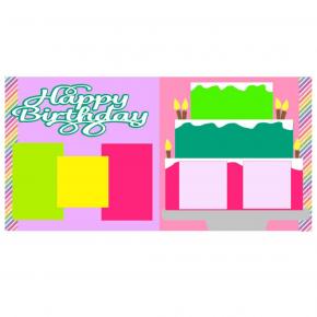 Happy Birthday Cake Girl Kit