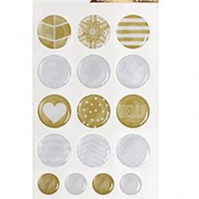Project Life Golden Epoxy Stickers