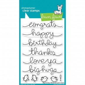 Lawn Fawn Clear Stamps - Big Scripty Words